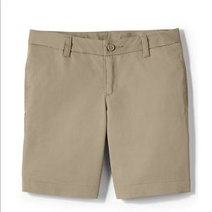 14S Lands End Perfect Fit khaki Chino Short slim